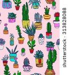 seamless pattern with cacti | Shutterstock .eps vector #313828088