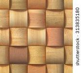 3d wooden pattern  seamless | Shutterstock . vector #313835180