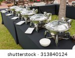buffet heated trays ready for... | Shutterstock . vector #313840124