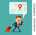 illustration of traveling... | Shutterstock .eps vector #313848524