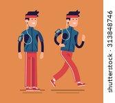 lovely vector flat design on... | Shutterstock .eps vector #313848746