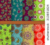 collection of eight gypsy... | Shutterstock .eps vector #313851824