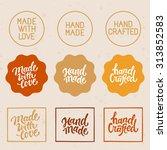 vector set of design elements... | Shutterstock .eps vector #313852583
