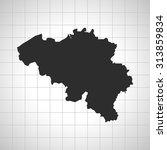 map of belgium | Shutterstock .eps vector #313859834