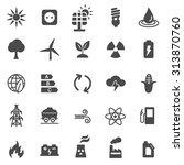 energy black icons set. vector | Shutterstock .eps vector #313870760