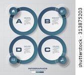 4 steps process. simple...   Shutterstock .eps vector #313875203