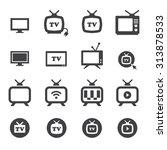 tv icon   Shutterstock .eps vector #313878533