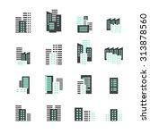 building icon set | Shutterstock .eps vector #313878560