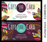 vector gift voucher  card... | Shutterstock .eps vector #313880186