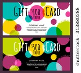vector gift card  abstract... | Shutterstock .eps vector #313880288