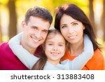 happy family having fun... | Shutterstock . vector #313883408