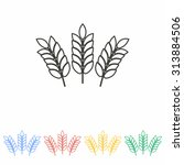 barley line icon  on white... | Shutterstock .eps vector #313884506