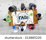 faq frequently asked questions... | Shutterstock . vector #313885220