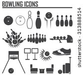 bowling icon vector. | Shutterstock .eps vector #313888514