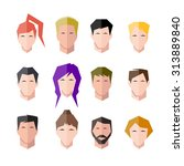icons human face set | Shutterstock .eps vector #313889840