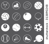 sport icons set illustration | Shutterstock .eps vector #313890248