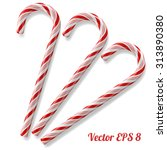 mint hard candy cane striped in ... | Shutterstock .eps vector #313890380