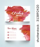 horizontal business card or... | Shutterstock .eps vector #313892420