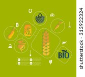 agriculture flat infographic