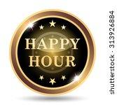 happy hour icon. internet... | Shutterstock . vector #313926884