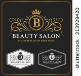 beauty salon heraldic crest... | Shutterstock .eps vector #313928420