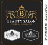 beauty salon heraldic crest... | Shutterstock .eps vector #313928420