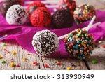 Festive Chocolate Cake Pops...