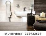 Blurred Background Of Bathroom...