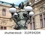 decorations on the street lamp... | Shutterstock . vector #313934204