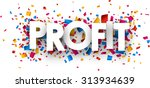 profit sign with colour... | Shutterstock .eps vector #313934639