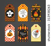 set of halloween gift tags with ... | Shutterstock .eps vector #313938263