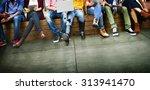 youth friends friendship... | Shutterstock . vector #313941470