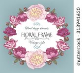 cute vintage floral card with a ...   Shutterstock .eps vector #313941620