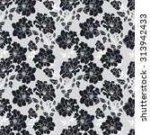 floral seamless pattern. black... | Shutterstock .eps vector #313942433