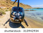 small private helicopter on the ... | Shutterstock . vector #313942934
