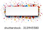 colorful rightabout celebration ... | Shutterstock .eps vector #313945580