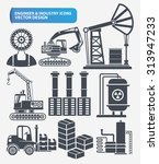 industry engineer and... | Shutterstock .eps vector #313947233