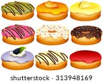 different flavor of donuts...