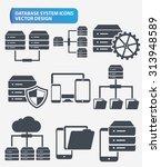 data networking and database... | Shutterstock .eps vector #313948589