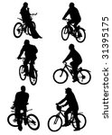 vector graphic silhouettes of... | Shutterstock .eps vector #31395175