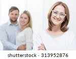 smiling mother in law with... | Shutterstock . vector #313952876