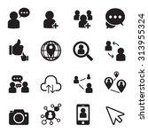 social network icons | Shutterstock .eps vector #313955324