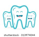 dental collection with  teeth... | Shutterstock .eps vector #313974044