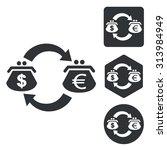 dollar euro trade icon set ...