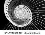 Spiral Staircase In Black And...