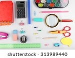 bright stationery objects on... | Shutterstock . vector #313989440