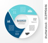 vector circle infographic.... | Shutterstock .eps vector #313990646