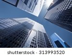 looking up at business... | Shutterstock . vector #313993520