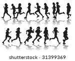 vector drawing running a... | Shutterstock .eps vector #31399369