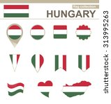 hungary flag collection  12... | Shutterstock . vector #313995263